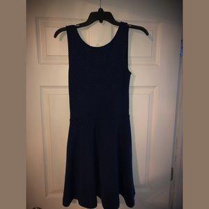 Dark Navy and Light Blue Polka Dot Dress